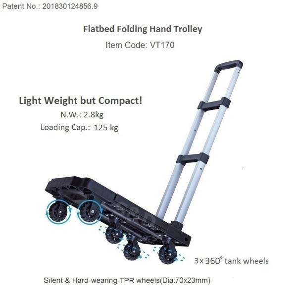 [HCM] Xe đẩy hàng gấp gọn (siêu nhẹ) - Tải trọng 125kg - Trusted by the Rubee (tiêu chuẩn Châu Âu)