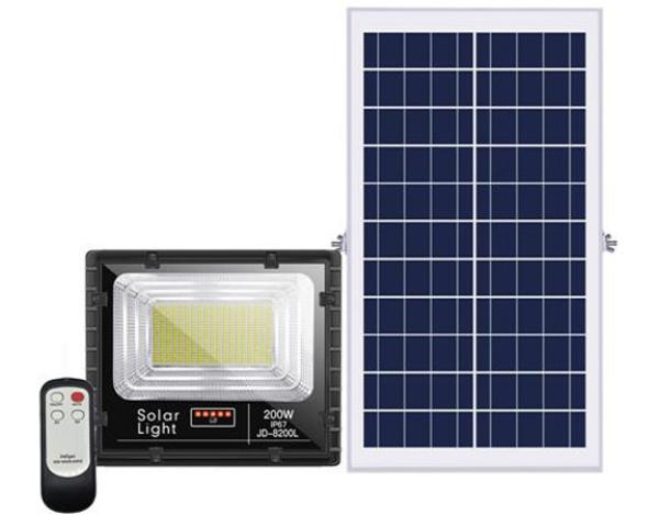 Bảng giá Đèn pha LED năng lượng mặt trời 200W JINDIAN JD-8200L Solar Light - Điện Việt