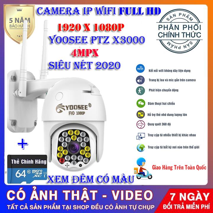 (KÈM THẺ CHUYÊN DỤNG 64GB/CÓ GHI ĐÈ)CAMERA IP wifi PTZ X3000,độ phân giải 4.0 Mpx,Xoay 360 độ, chống nước, chống ngược sáng,camera wifi không dây, trong nhà, ngoài trời, siêu nét tích hợp ghi âm, ghi hình, giám sát chuyển động