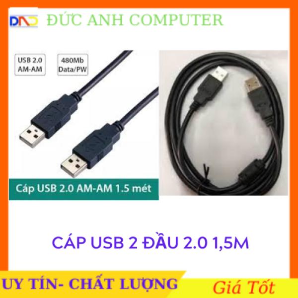 Dây cáp 2 đầu USB - Cáp USB 2 đầu đực chiều dài 1m2 - loại tốt cam kết sản phẩm đúng mô tả chất lượng đảm bảo