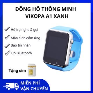 Đồng hồ thông minh nghe gọi Vikopa A1 Xanh + SIM nghe gọi thumbnail