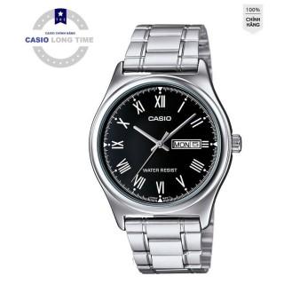 Đồng hồ nam CASIO MTP-V006D-1BUDF - Dây kim loại - Số la mã - Mặt màu đen thumbnail
