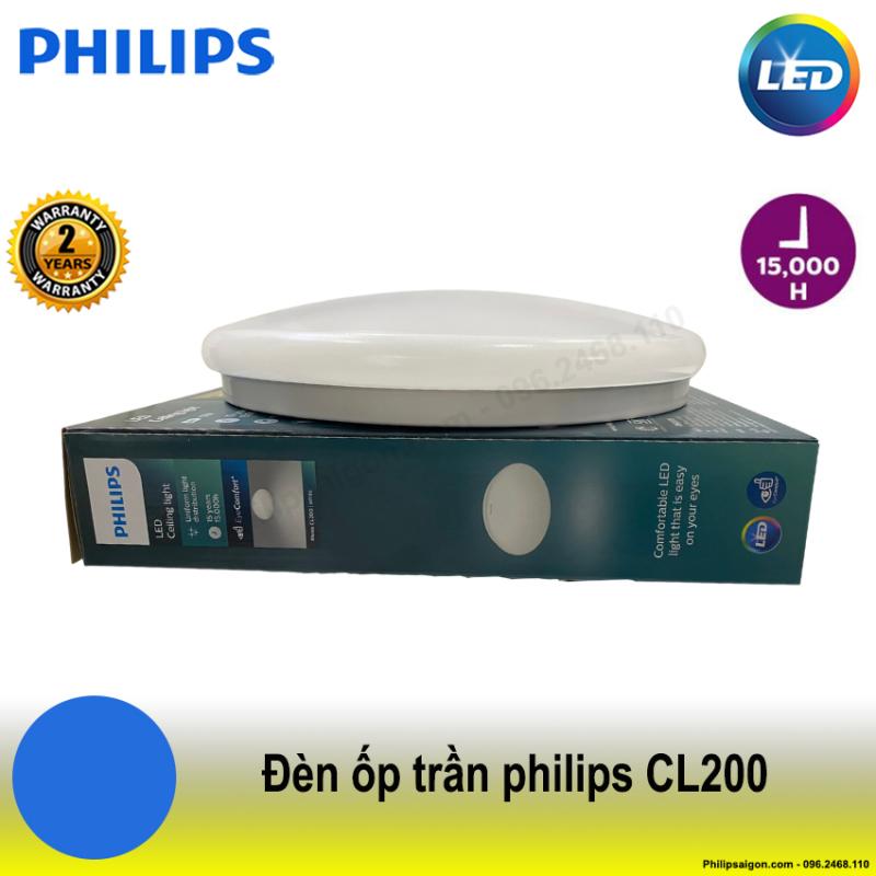 ĐÈN ỐP TRẦN LED PHILIPS CL200 17W 6500K ( ÁNH SÁNG TRẮNG) ( HÃNG PHÂN PHỐI CHÍNH HÃNG) công suất 17W, kích thước 320x68 - PhilipSaigon