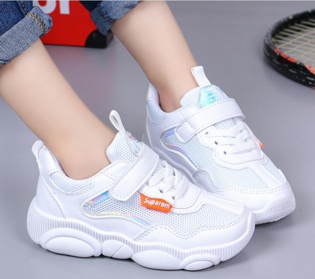 Giày thể thao bé gái dạng lưới, êm chân thoáng mát cho bé từ 3 đến 14 tuổi 023 giá rẻ