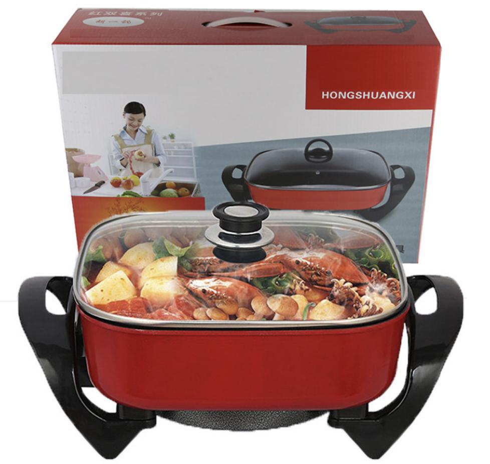 Giá Bếp lẩu nướng điện đa năng 1600W BHTLBIS Y1289 Chiên - Rán - Nướng -