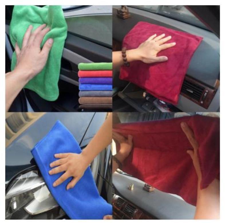 10 khăn lau xe ô tô  kích thước 35x75cm