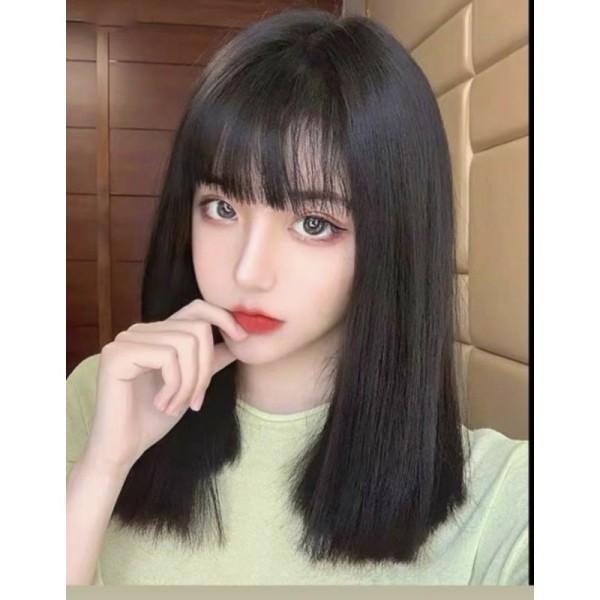Tóc giả nữ cả đầu 🥰FREESHIP🥰 Tóc giả nguyên đầu thẳng lỡ 40cm siu hót