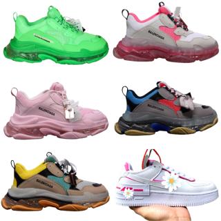 Giày thể thao sneaker nam nữ Ba.Len.cia.ga đế khí đế tách phân tầng chuẩn chữ & N.i.ke màu trắng hồng m2 thumbnail