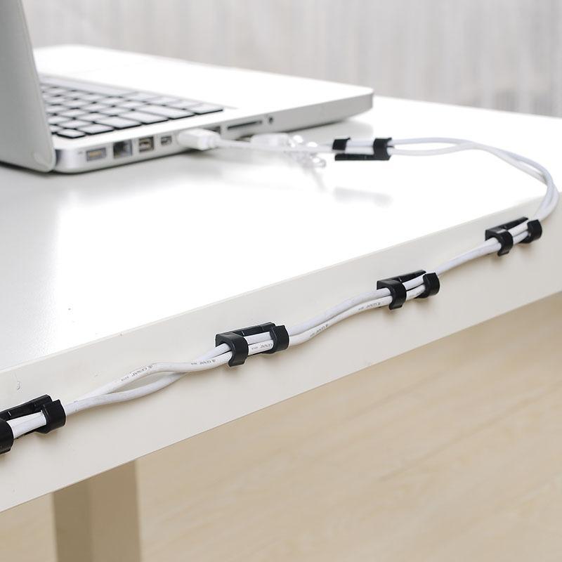 Bộ 20 kẹp dán kẹp giữ dây điện dây cáp sạc điện thoại tiện ích an toàn có thể dùng trên ô tô