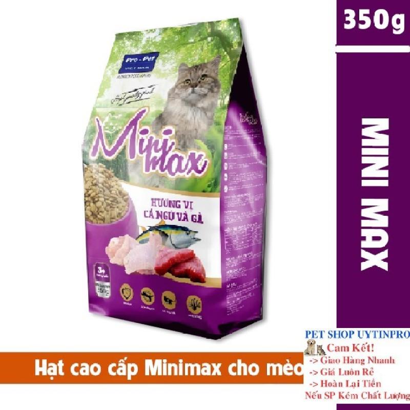THỨC ĂN HẠT CAO CẤP CHO MÈO Minimax Vị cá ngừ và gà Gói 350g Xuất xứ Pro-Pet Việt Nam