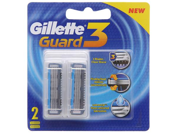 Bộ 2 cái lưỡi dao cạo râu 3 lưỡi Gillette Guard3