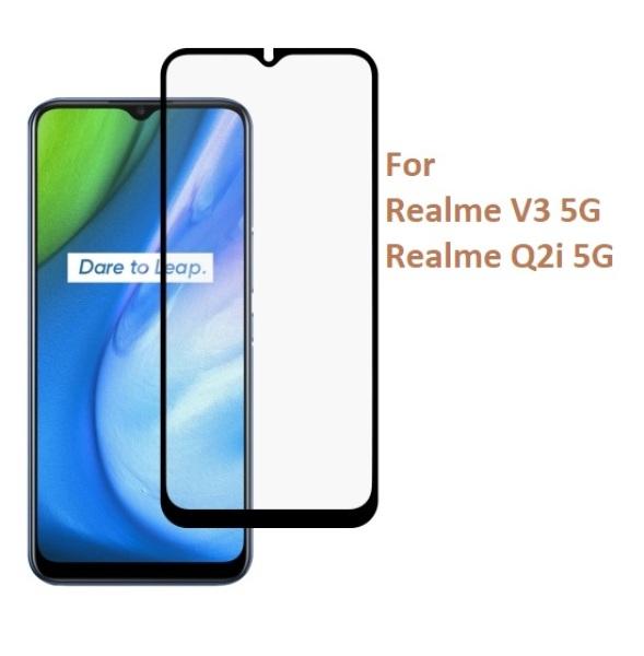 Kính cường lực Realme V3 5G / Realme Q2i 5G (Full Màn, Full Keo)