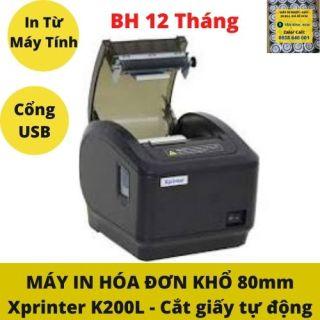 Máy in hóa đơn K80 in bill chuyển nhiệt khổ 80mm tự động cắt giấy Xprinter K200L thumbnail
