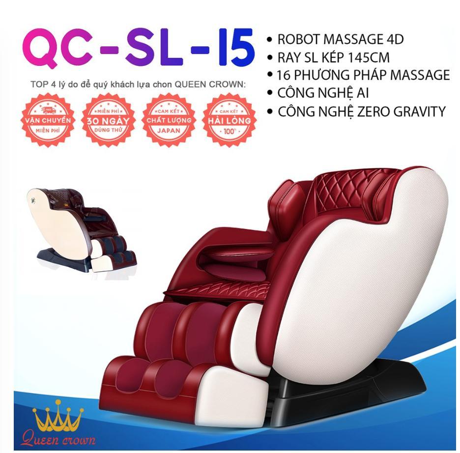 Ghế Massage Nhật Bản - QUEEN CROWN 4D QC-SL-15