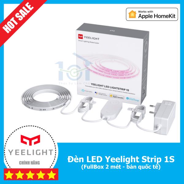 Bảng giá Đèn LED dây thông minh Yeelight Strip 1S Full Box 2m bản quốc tế, Hỗ trợ Apple HomeKit, Google Assistant,  Alexa, có thể nối dài lên đến 10 mét, Sử dụng App Yeelight hoặc Mi Home.