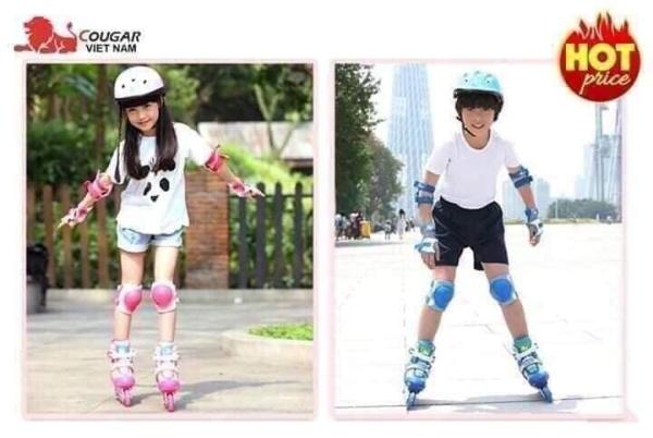 Phân phối Giày trượt Patin đủ bộ cho trẻ em (Kèm mũ bảo hiểm và bảo vệ chân tay)