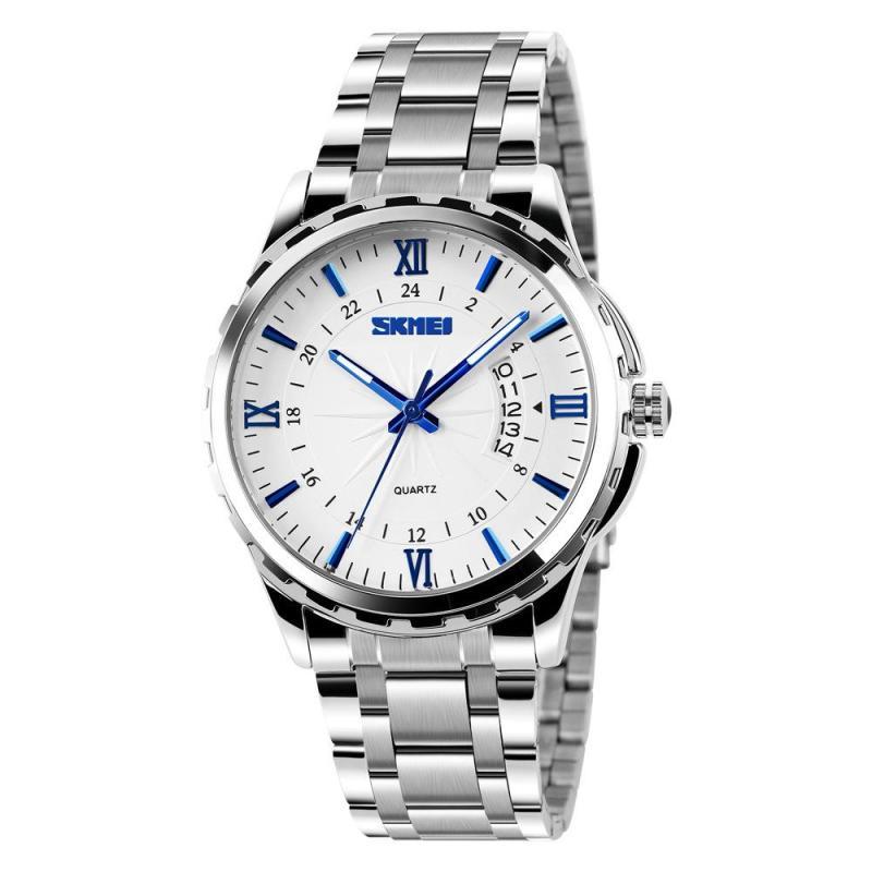Đồng hồ nam thời trang chống nước Skmei ( Trắng ) SK 02
