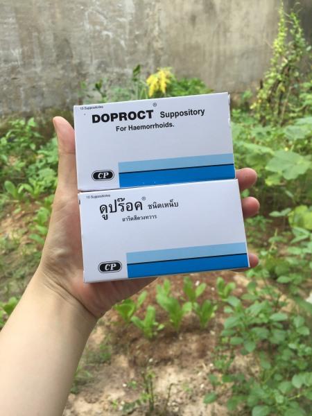 Viên đặt teo trĩ Doproct Thái Lan