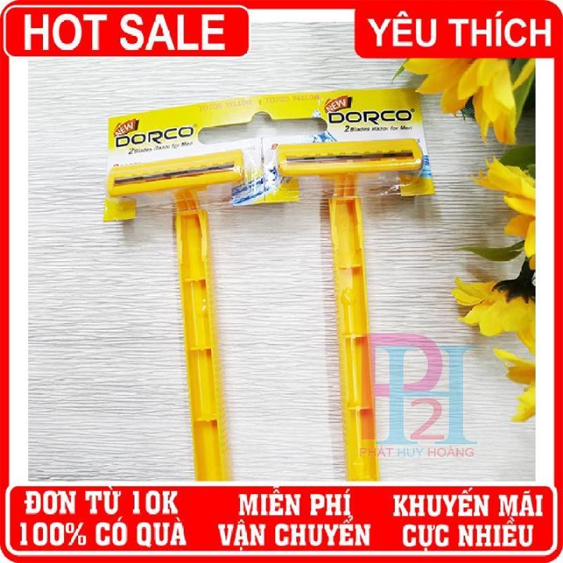 Bộ 2 dao cạo râu, ria Dorco lưỡi kép chất lượng tốt ✓giá rẻ ✓ Phát Huy Hoàng