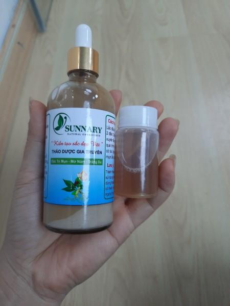 Thảo dược Sunnary làm sạch mụn nám tái tạo da mới 100ml tặng kèm hồng da