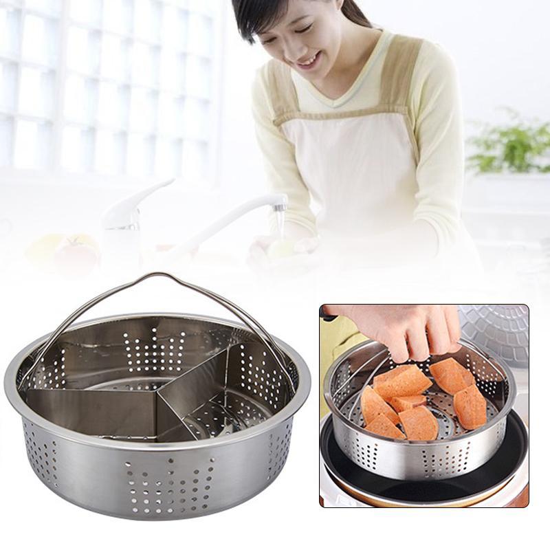 Stainless Steel Steamer Basket Steamer Vegetables Tableware Food Convenient Economic Steam Rack Dish