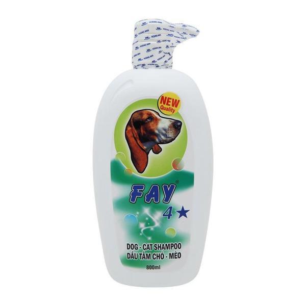 Dầu Tắm Sữa Tắm Diệt Ve Rận Bọ Chét Mượt Lông Khử Mùi Hôi Chó Mèo Fay 4 Sao 800ml