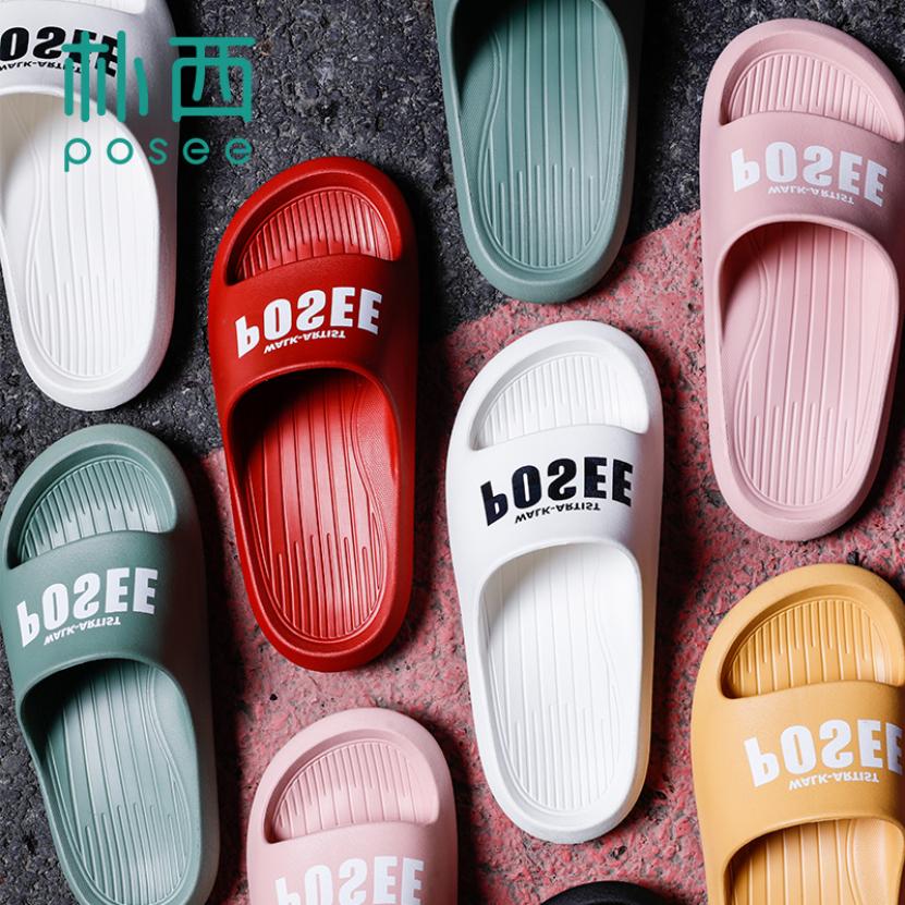 POSEE 2020 NEW EVA Giày Thời Trang Dép Nhà Dép Slides Non-slip Nhanh Khô Ngoài Trời Trong Nhà PS4602 giá rẻ