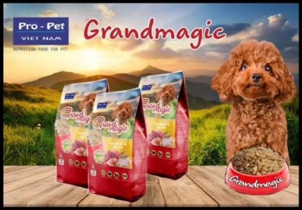 Thức ăn hạt cao cấp cho Chó. Grand Magic Poodle 1kg.