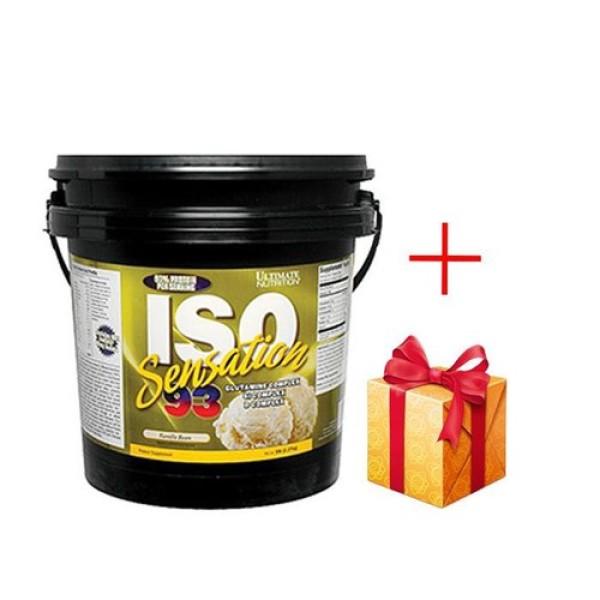 Sữa tăng cơ whey protein Ultimate Iso Sensation 93, 5 lbs - 71 servings QUÀ TẶNG ngẫu nhiên cao cấp