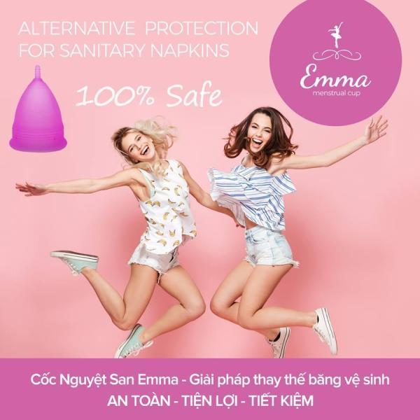Cốc nguyệt san Emma Cup - Màu Trắng + Quà tặng giá rẻ