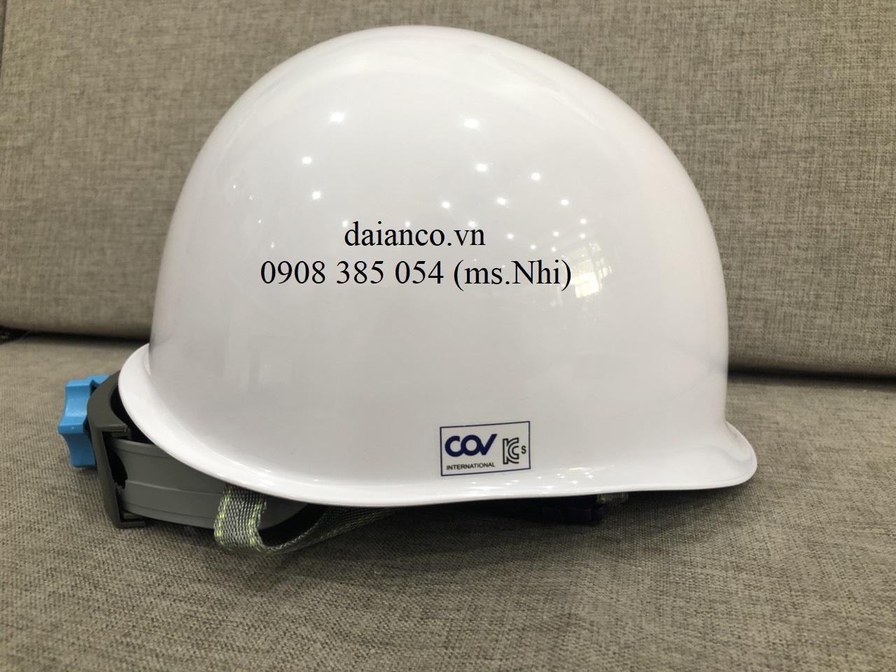 [HCM] Giảm giá nón bảo hộ Hàn Quốc COV màu trắng, bảo vệ đầu, chống va đập- Hình thật, có sẵn