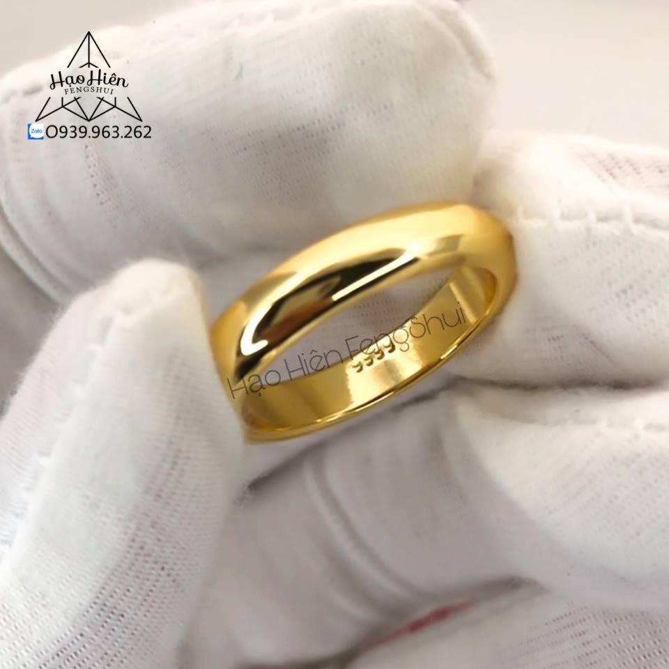 Nhẫn Trơn Phong Thủy mạ Vàng 24k in 9999 - Mang đến cuộc sống Sung Túc, May Mắn, công việc làm ăn sẽ Phát Tài đến cho Gia Chủ (Chuyên cung cấp Sỉ, Lẻ)