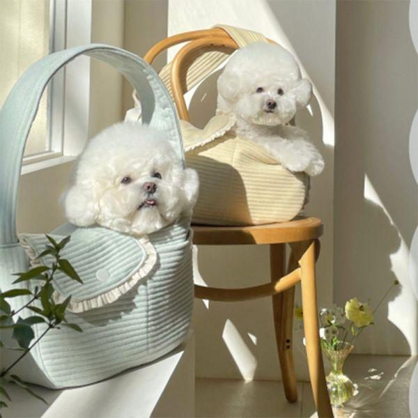 MMONORA Thoáng khí Dây đai mở rộng cho chó Cún yêu Du lịch ngoài trời Túi tote cho thú cưng Túi vận chuyển chó Phụ kiện vật nuôi Túi đeo Túi chó con