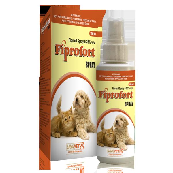 Chai xịt Fiprofort Spray diệt ve, chấy, rận cho chó, mèo