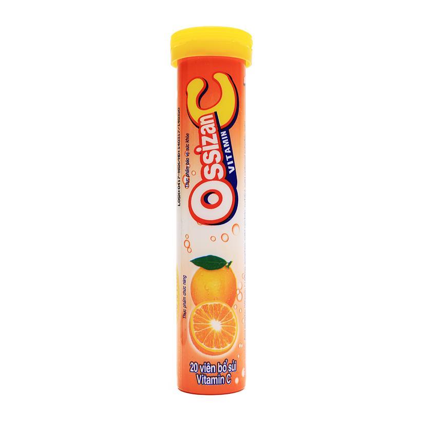 Viên bổ sủi Ossizan vị cam bổ sung Vitamin  C