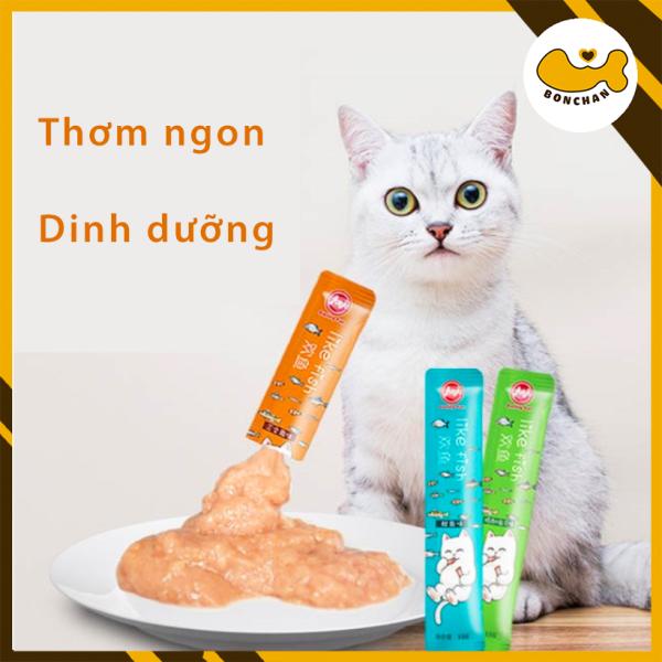 Combo 20 thanh Súp dinh dưỡng cho mèo ướt LIKEFISH cao cấp 15g