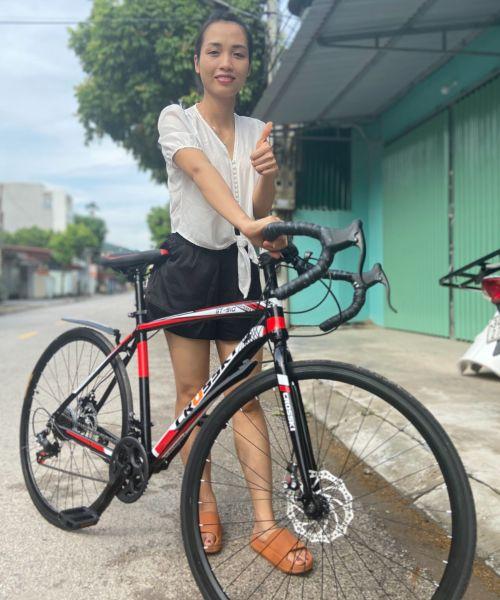 Mua xe đạp đua xe crooky KHUNG NHÔM đi cực nhẹ size 700cc - xe đạp leo núi - xe đạp tay cong - xe đạp leo núi địa hình - -xe đạp thể thao người lớn- xe đạp địa hình