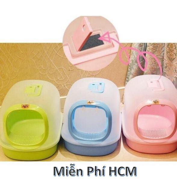 HCM - Nhà vệ sinh cho mèo AG Plus  (Size Lớn  57cm x  36cm  x 40cm) (Màu ngẫu  nhiển) nha ve sinh meo / toilet mèo / khay dung cat / nhà mèo -HP10869BD