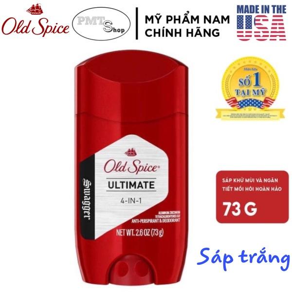 [USA] Lăn Sáp khử mùi nam Old Spice Swagger Ultimate 4in1 73g (Sáp trắng) ngăn mồ hôi - Mỹ