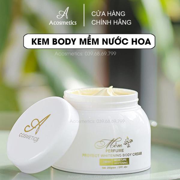 Kem Body Trắng da A cosmetics dùng cho da chai lì, không bết rít thẩm thấu vào da không lộ vân kem 250gr giá rẻ