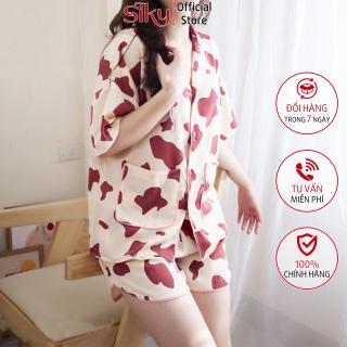 Bộ ngủ, bộ mặc nhà pijama nữ chất lụa Hàn siêu mềm mại - SIKY HX05 thumbnail