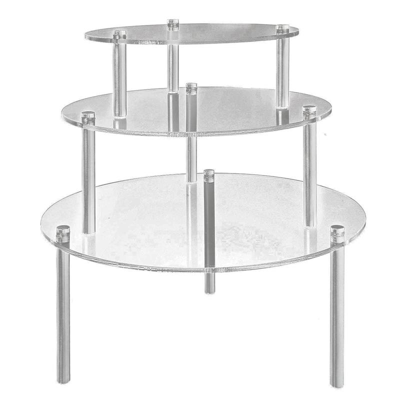 3 Tier Clear Round Cup Cake Stand Acrylic Cupcake Stand Supplies Display Tower Wedding Birthday Party Decoration