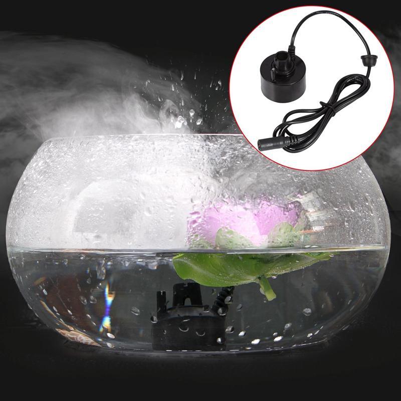 400ML/H Mini Ultrasonic Mist Maker Fogger Water Fountain Pond Fog Machine Atomizer Air Humidifier