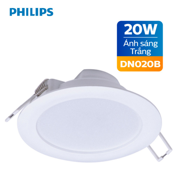 Bảng giá Đèn Downlight âm trần Philips LED DN020B 20W 6500K - Ánh sáng trắng