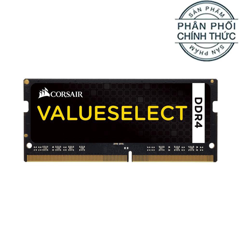 Ram Laptop Corsair DDR4 8GB Bus 2133MHz SODIMM 1.2v CMSO8GX4M1A2133C15 - Hãng Phân Phối Chính Thức