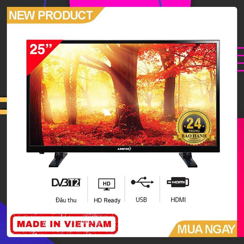 Bảng giá Tivi Led Asanzo 25 inch HD - Model 25T350 (Đen) HD Ready, Tích hợp DVB-T2 - Bảo Hành 2 Năm