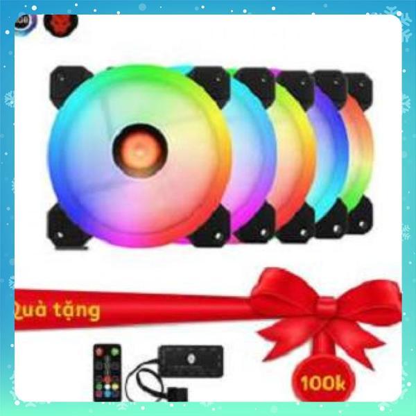 Bảng giá Bộ 5 Fan LED RGB Coolmoon Sunshine Dual Ring kèm HUB + điều khiển Phong Vũ