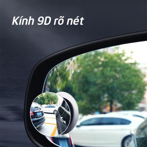 [Giá hủy diệt] Gương cầu kính lồi xóa điểm mù xoay 360 độ gắn trên gương chiếu hậu xe hơi, xe tải tăng độ an toàn