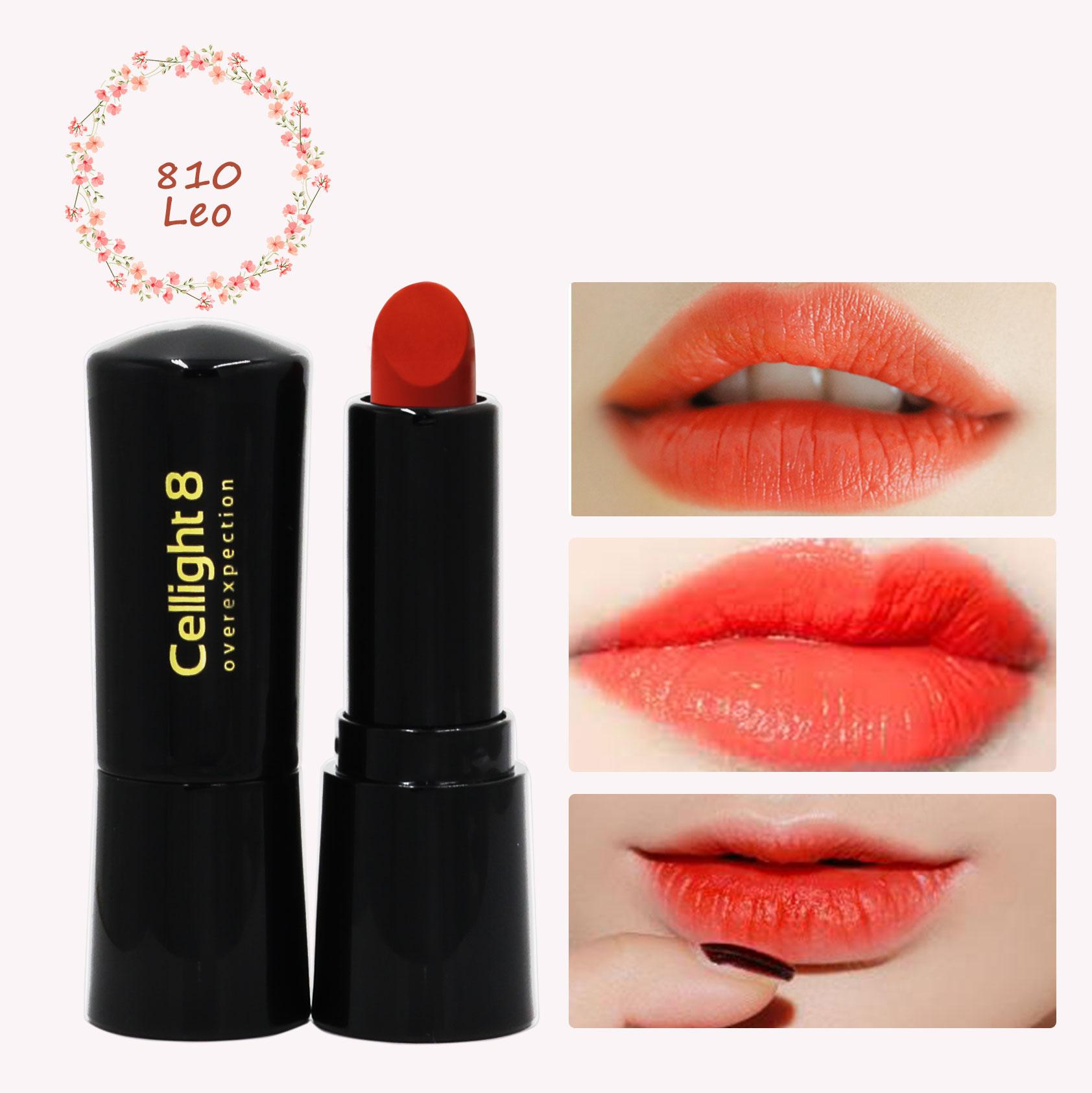 Son môi mini thiên nhiên không chì Cellight 8 Eco Lipstick - 810-Leo - San Hô - (2g) cao cấp
