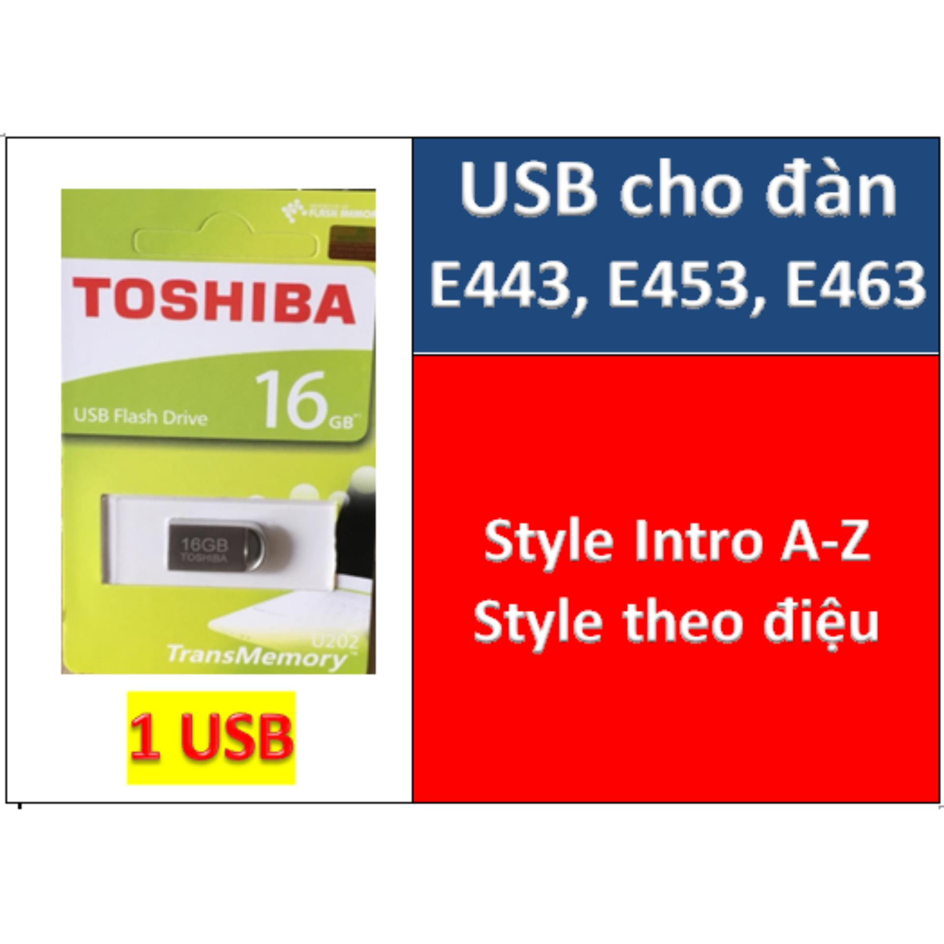USB mini dữ liệu style cho đàn organ E443, E453, E463